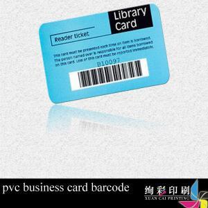 China CMYK PVC Plastic Barcode Cards wholesale