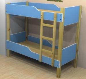 Durable kids bed for preschool/kindergarten wooden bed furniture