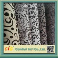 China 145cm Wide Funitures Sofa Upholstery Fabric , Flock Velvet Upholstery Fabric wholesale