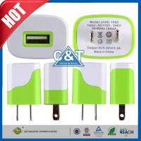 China Iphone 6 Plus Universal USB Power Adapter , Us Plug Usb Wall Travel Charger wholesale