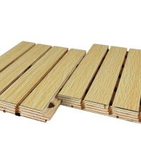 China Fireproof Groove Sound Proof Wooden Acoustic Decorative Wall Panels on sale