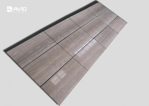 Quality White Wood Grain Marble Wall Cladding Panels Smooth Surface Moderate Hardness for sale
