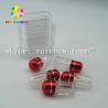 Clear capsule plastic medicine bottle , sex pill container with aluminum foil gold cap