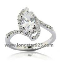 China 925 silver egagement rings wholesale