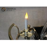 Customized White Plastic Taper Led Candles For Home Decoration