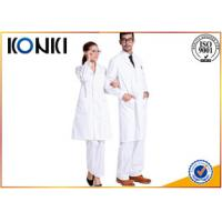 China Comfortable White Medical Scrubs Uniforms , Medical Lab Coats For Doctor on sale