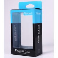 China Plastic Transparent Sports Packaging Box  Attractive With Blue Logo wholesale