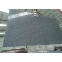 China Nero Impala Granite Stone Slabs Sesame Black Granite For Bathroom