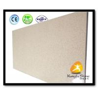 China Xiamen Kungfu Stone Ltd supply Beige Quartz Kitchen Countertops  In High quality and cheap price on sale
