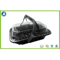 China Plastic Black Hinged Clamshell Blister Packaging Takeaway Boxes wholesale