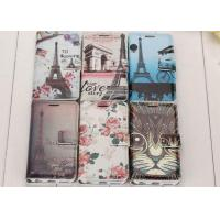 China Drop Resistance Cartoon Flip PU Leather Case For Iphone 6 Easy Cleaning wholesale