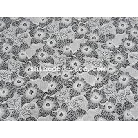 China White Nylon Spandex Stretch Lace Fabric With Flower Design For Garment SYD-0186 wholesale