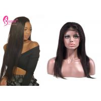 China Silky Straight Full Lace Remy Human Hair Wigs With Ladies Baby Hair Medium Brown wholesale