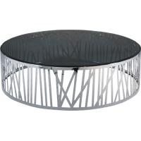 China Shinny Stainless Steel Coffee Table , Round Glass Metal End Table,  smoking glass table wholesale