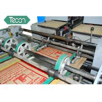 China PP Laminated  Un - Laminated Valve Paper Bags Forming Machine For Fertilizers Packing wholesale