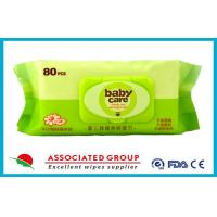 Non Irritating Chamomile / Aloe Vera Skin Care Baby Wet Wipes for Face , 80 Sheets