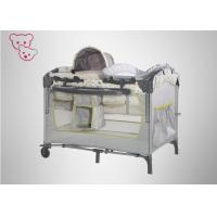 China Modern Designbaby Trend Play Yard , Carry Cot Black And White Playpen Steel Frame wholesale