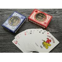 China German Casino Playing Cards Offset Printing 310gsm Black Core Paper wholesale