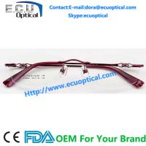 China Ladies good top quality beta titanium rimless eyewear frame wholesale