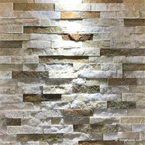 China Slate Culture Stone White/Rust Quartzite Ledge Stone , China Wall Cladding WPB-47 on sale