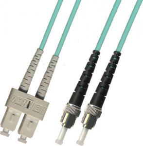 China multimode Duplex 10 GIGABIT Fiber Optic Patch Cable 100M ST-SC 50/125 Blue wholesale