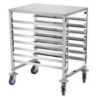 China 6 Shelf Baking Tray Trolley For Rotary Oven Pastry Stainless Steel Tray Rack wholesale
