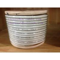 China Outdoor RG6 Tri Shield CATV Coaxial Cable , 18AWG CCS Conductor with Messenger wholesale