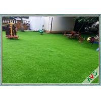 China Fire Resistance Outdoor Artificial Grass With Monofil PE + Curled PPE Material wholesale