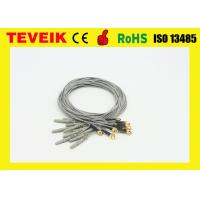 China Gold Plated Copper EEG Cable 12 Months Warranty For Ectroencephalogram Machine wholesale