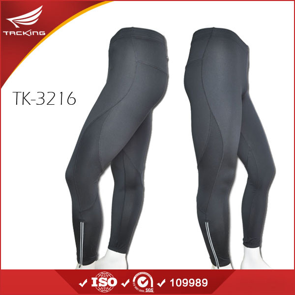 Quality Wholesale Spandex Full Length Black Tight Jogger Pants for Men for sale