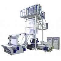 China LDPE / HDPE Plastic Film Blowing Machine For Three Layers Co-Extruding Plastic Film Rolls on sale