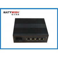 Buy cheap Dual Power Unmanaged Industrial Ethernet Switch , 5 Port Ethernet Switch Din from wholesalers