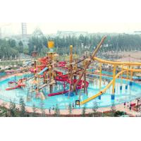 China Big Interactive Fiberglass Water Play House With Water Slide / Aqua Park Equipment wholesale
