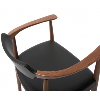China Pu Wooden Kennedy Armchair 480*460*760mm For Dining Room wholesale