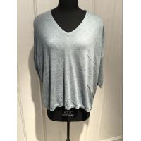 China Grey V Neck Sweater Women'S , Cashmere Ladies Sweaters With Bead Decoration wholesale