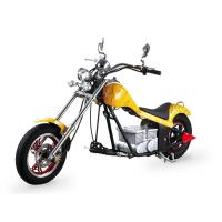 China Yellow Coolest Harley Electric Motorcycles 60Km / H With 48V 500W Motor wholesale