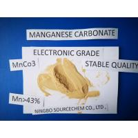 China MnCO3 Powder Chemical Raw Materials HS Code 28369990 Insoluble In Water on sale