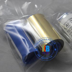 China Zebra id card printer compatible feature monochrome silver gold printer ribbon of 1000 prints 800015-106 on sale