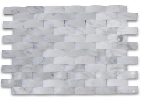 Quality 3D Cambered Stone Mosaic Tile Customized Size For Kitchen Wall Decoration for sale