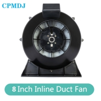 China 8 Inch Ducted Fan Motor New Design High Temperature Resistant Centrifugal Fan Industry Exhaust Centrifugal Inline Fan on sale