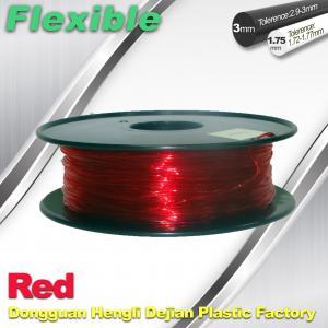 China Elastic / Rubber Flexible 3d Printer Filament 1.75mm / 3.0mm 1.3Kg / Roll Filament wholesale