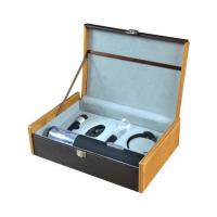 China leather wine carrier,wine gift set,wine opener,wine stopper,wine cooler,wine rack,wine box wholesale