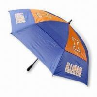 China 30 Inches Double-layer Golf Umbrella with Windproof Function wholesale