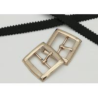 China Rectangle Metal Shoe Buckles Single Prong Pin Structure Exquisite / Elegant wholesale