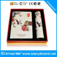 China Chinese style cover printing with clock notebook gift set on sale