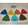 China Green Triangle Corner Diamond Floor Polishing Pads , Electroplated Metal Bond Pads wholesale