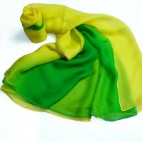 China Hand-rolled Silk Large Plain Shawl with Good Quality and Special Design on sale