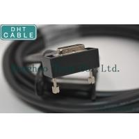 China Right Angle Camera Link Cable MDR Overmolding Black Color With Screw Locking wholesale
