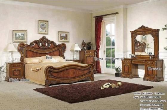 Quality ALD-8030 Wood Classical Bedroom Furniture for sale