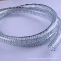 China Food grade water suction spring vacuum pvc steel wire reinforced hose pipe wholesale